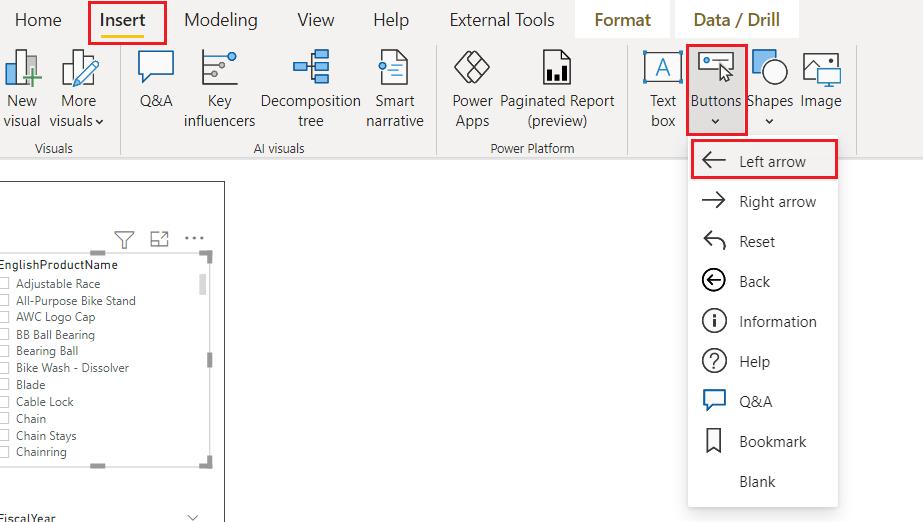 Power bi add slicer panel