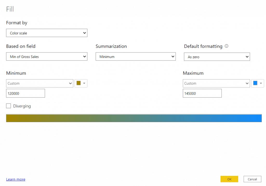 Power bi gauge chart conditional formatting