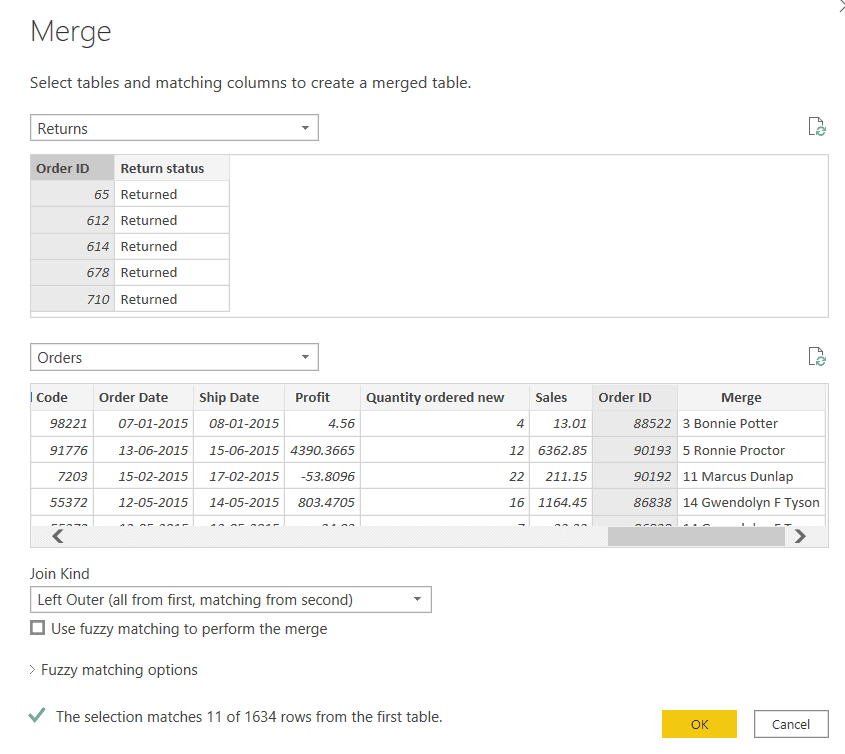 Power bi add a column from multiple tables