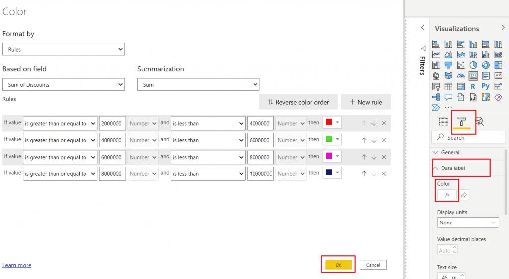 Power BI card conditional formatting