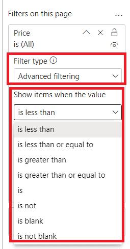 Power BI Filters 5