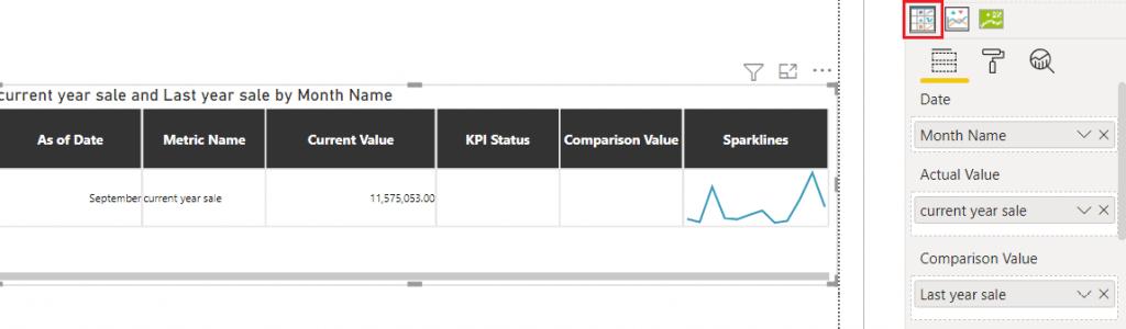 Power BI KPI custom visual