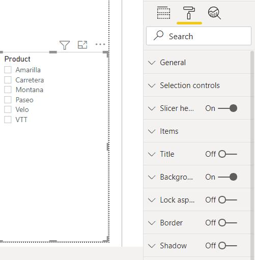 Power BI Slicer format