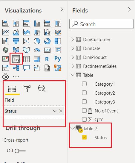 Microsoft Power bi slicer checkbox filter