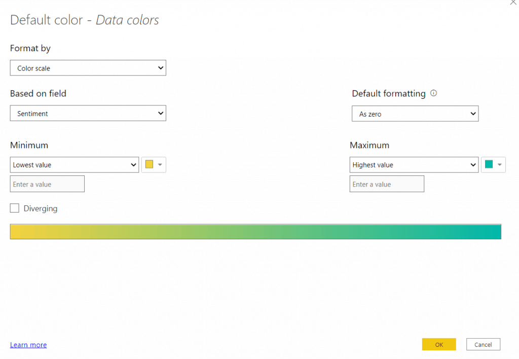 Power bi filled maps conditional formatting