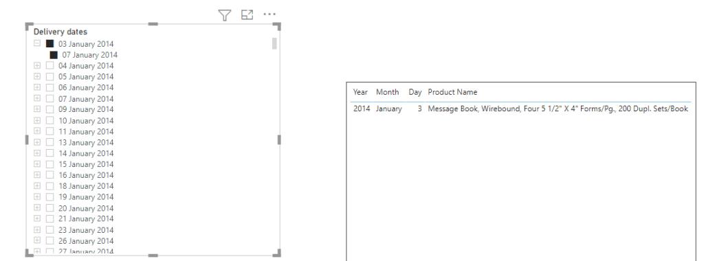 Microsoft power bi one slicer for multiple date columns