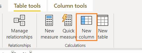 Power bi matrix add calculated column