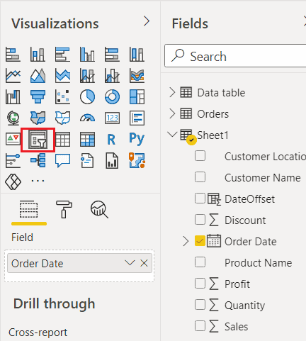 Power bi date filter before today