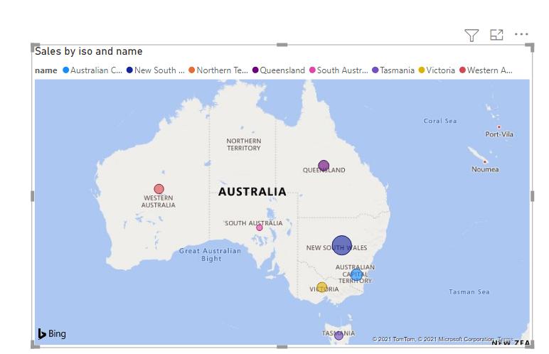 Power bi maps australia