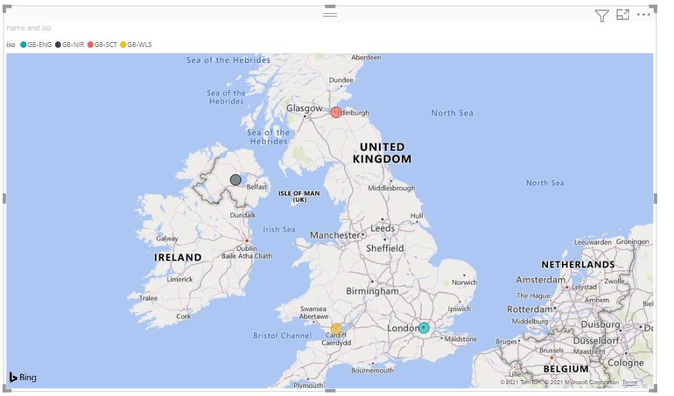 Power bi maps uk