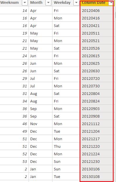 power bi date format yyyymmdd