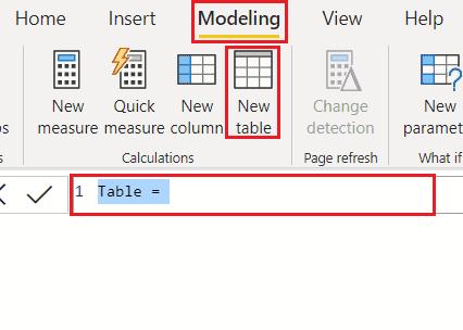 Create Calculated table on Power BI
