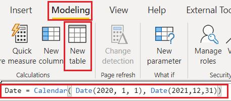 Create date table on Power BI Desktop
