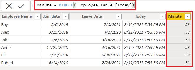 Date-minute function in Power BI using DAX