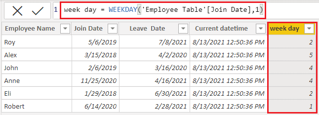 DAX week-Date function in Power BI