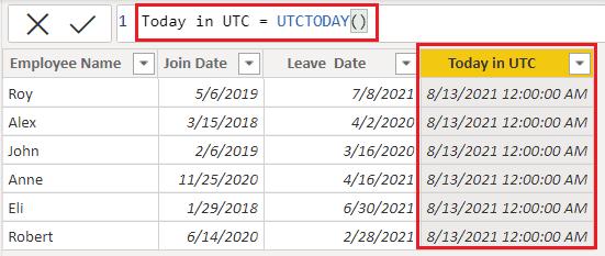 Date function in Power BI