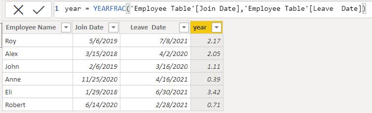 Date-Year function in Power BI