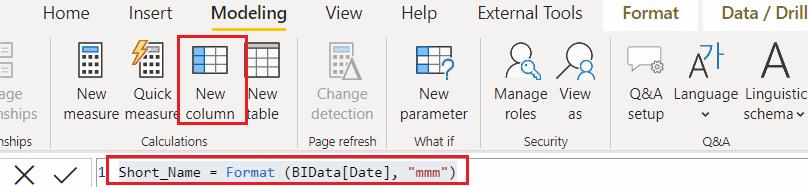 power bi date format short month name