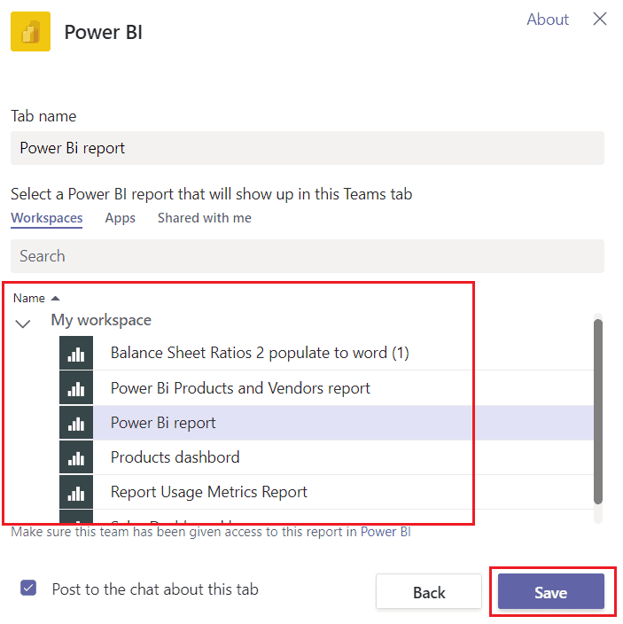 How to embed Power BI Report in Microsoft Teams