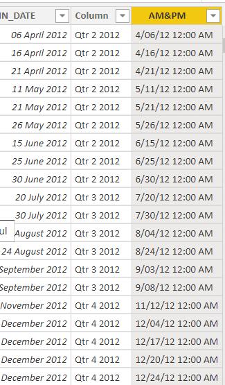 Power bi date format am pm