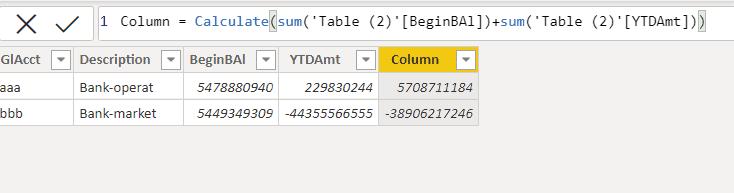 Power bi table visualization add calculated column