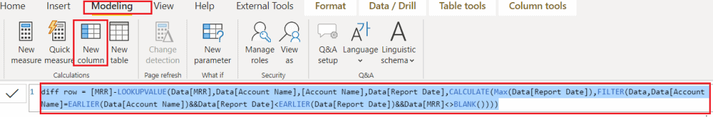 Power bi date difference between two rows