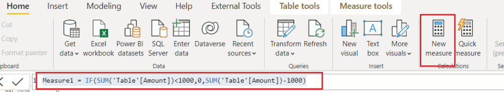 Power bi table total not correct