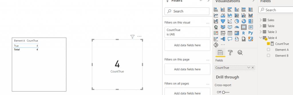 Power bi measure count if true
