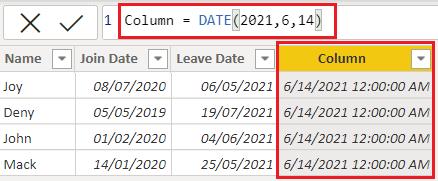 power bi date function