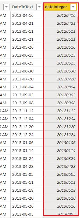 Power bi format date as number