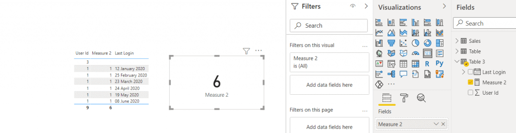 Power bi measure count if not null