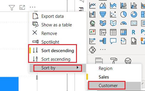 Power bi sort by measure not in visual