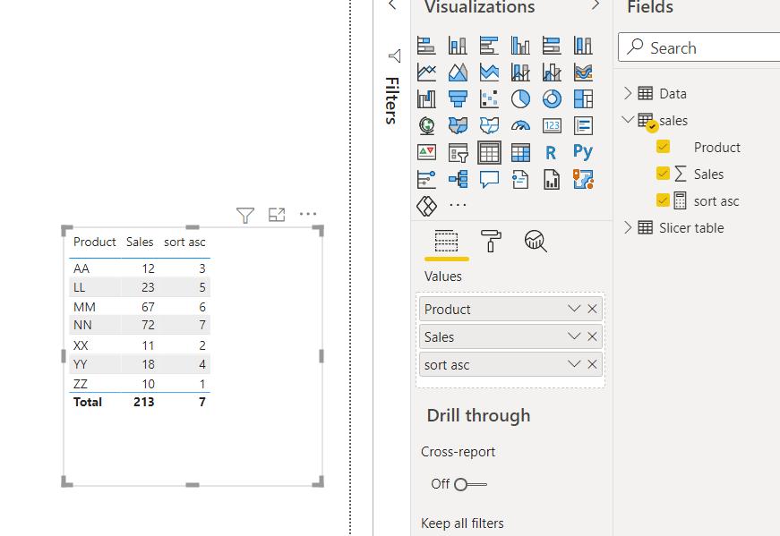 sort column by measure power bi