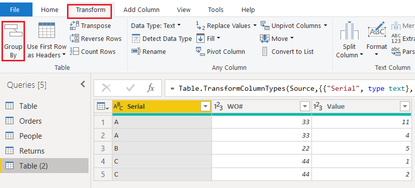 power bi sum group by two columns