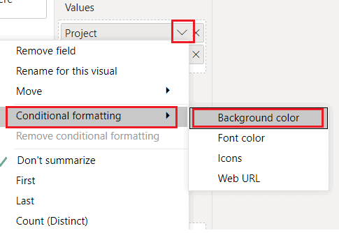 Conditional Formatting the text based on measure