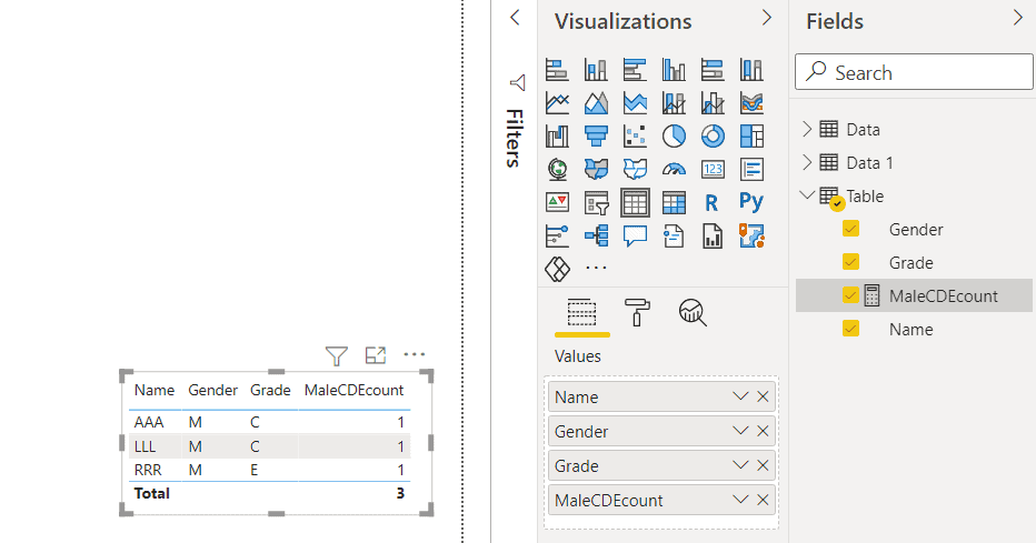 power bi measure count with multiple filter