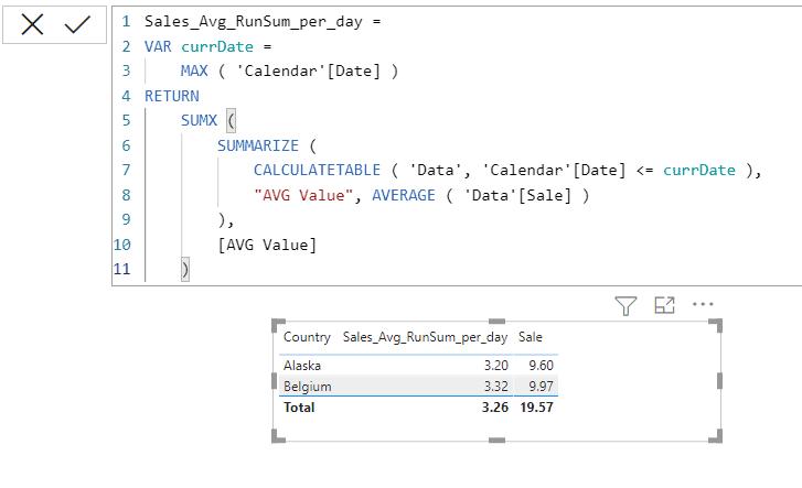 Power bi sumx function