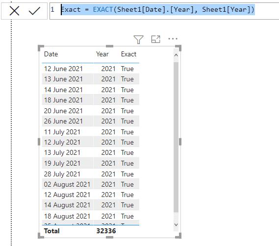 Power Bi Text function