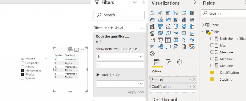 power bi measure to filter on condition