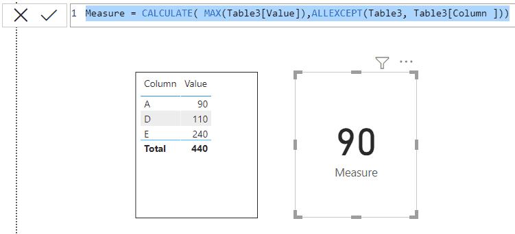 Power bi Max function example