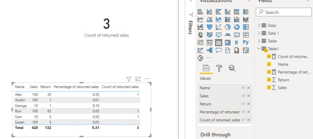 power bi measure count based on filter