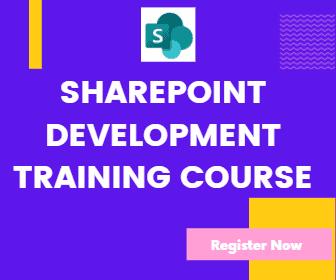 SharePoint Development training course
