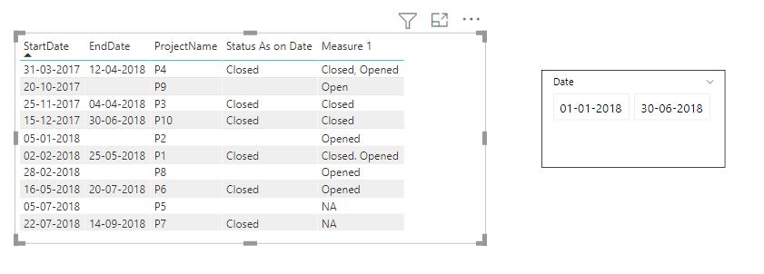 power bi use date slicer value in measure